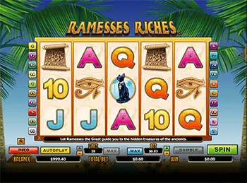 Характеристики слота Ramesses Riches 3
